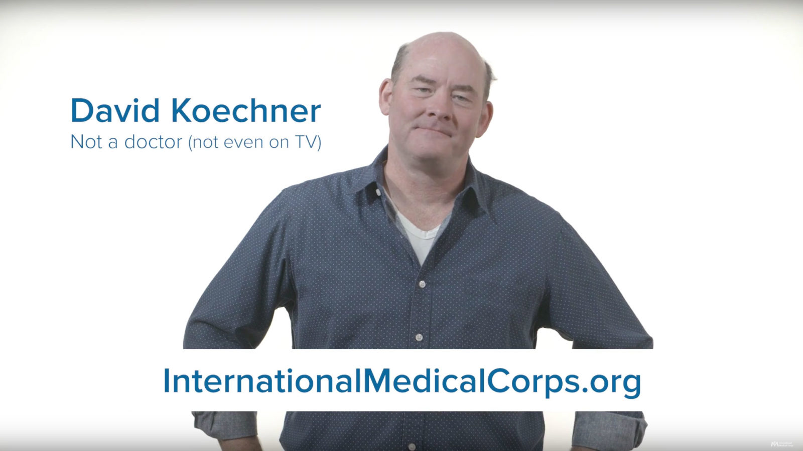 David Koechner for International Medical Corps